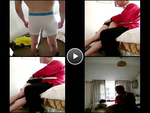 straight guys spanked video